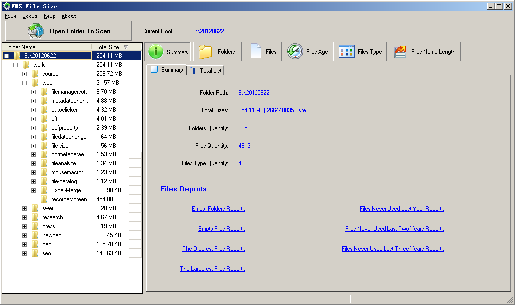 FMS File Size is an easy-to-use disk space analyzer